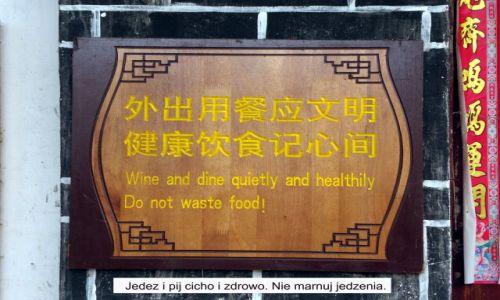 Zdjecie CHINY / Yunnan / Lijiang / Ciekawostka - tablice z Lijiang 2