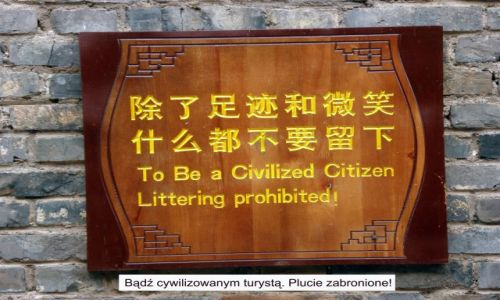 Zdjecie CHINY / Yunnan / Lijiang / Ciekawostka - tablice z Lijiang 3