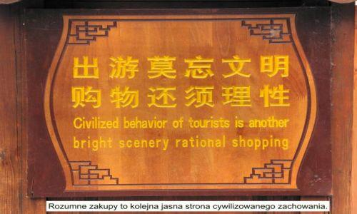 Zdjecie CHINY / Yunnan / Lijiang / Ciekawostka - tablice z Lijiang