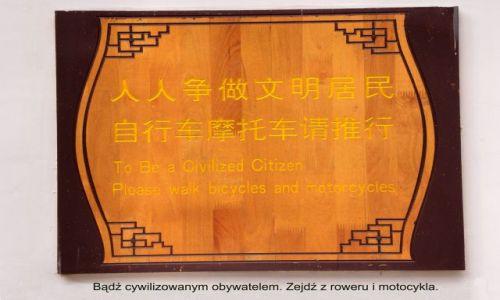 Zdjecie CHINY / Yunnan / Lijiang / Ciekawostka - tablice z Lijiang 5