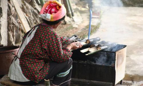 Zdjęcie CHINY / Guizhou / Longsheng / mniamek ;-)