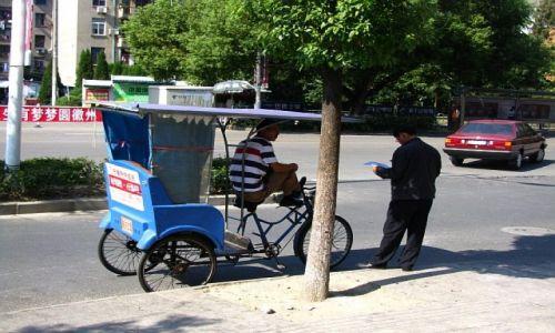 Zdjecie CHINY / prowincja Anhui / Tunxi / azjatycka taksówka