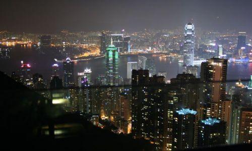 Zdjęcie CHINY / brak / Hongkong / Hongkong nocą