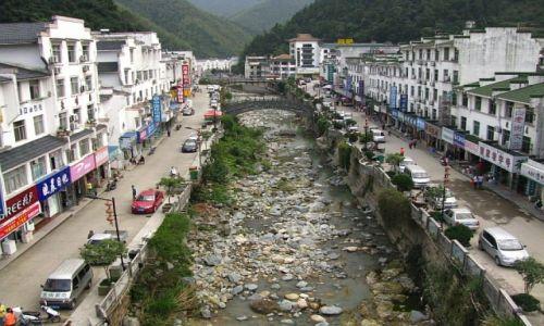 CHINY / prowincja Anhui / Tangkou / widok na miasteczko