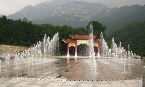CHINY / prowincja Anhui / Tangkou / brama do Huang Shan