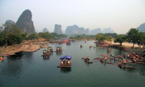 Zdjęcie CHINY / Guangxi / Lijiang river / PRZYSTAŃ W YANGSHUO