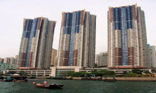 CHINY / Hong Kong / Hong Kong / TRZY WIEŻE