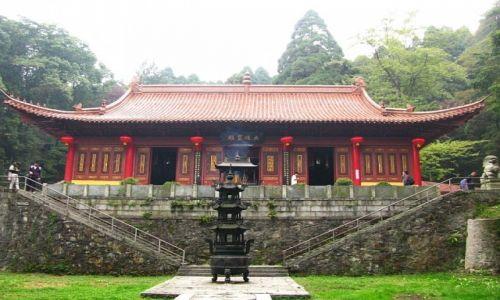 Zdjęcie CHINY / prowincja Jianxi / Lu Shan / świątynia buddyjska