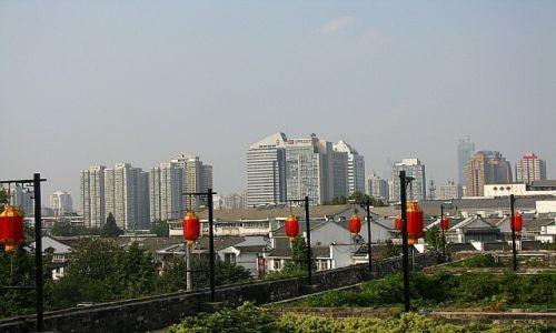 CHINY / prowincja Jiangsu / Nankin / panorama miasta