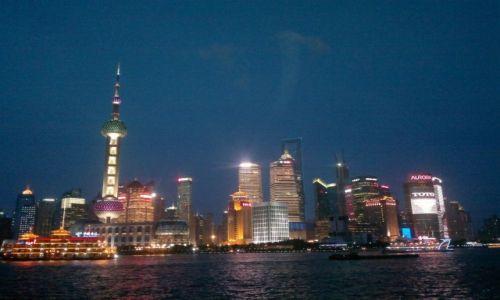 CHINY / Szanghaj / Szanghaj / Bund nocą