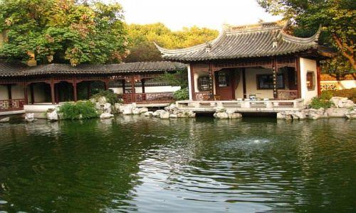 CHINY / prowincja Jiangsu / Nankin / pałac prezydencki ogrody