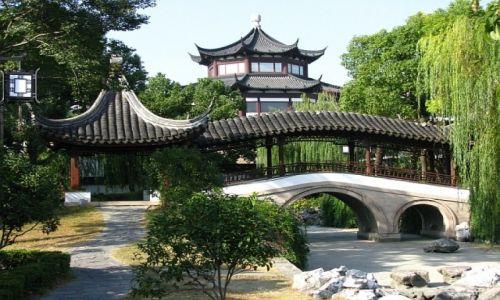 CHINY / prowincja Jiangsu / Suzhou / park Panmen