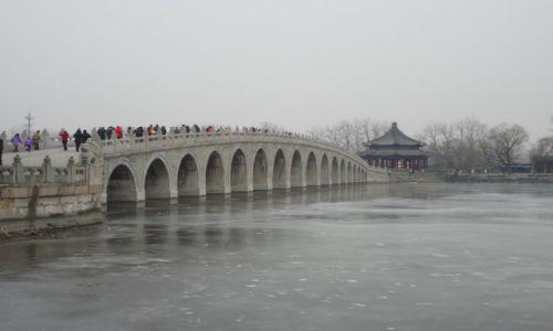 Zdjecie CHINY / Pekin / Pekin - Jezioro Kunming / Siedemnastołukowy most