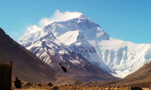 Zdjecie CHINY / Tybet / Pn. zbocze Mt. Everestu / Pierwsza baza w
