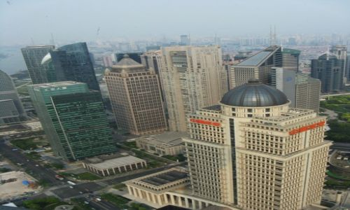 Zdjecie CHINY / Szanghaj / Dzielnica Pudong / Co widać z