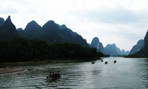 Zdjęcie CHINY / Gulin / Na  łodzi / Spływ po rzec Li