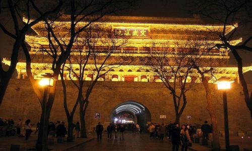 Zdjecie CHINY /   / Xian / Wejście do starego miasta