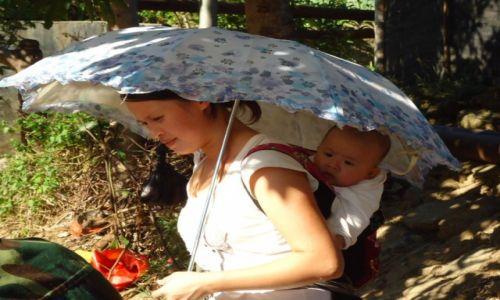 Zdjecie CHINY / Yunnan / okolice Hekou / Ochrona przed słońcem