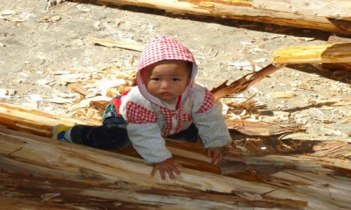 Zdjecie CHINY / Yunnan / Qingkou Folk Village / Chińczycy (7)