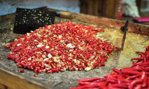 Zdjęcie CHINY / Anhui / Huangshan / Red Hot Chilli Peppers