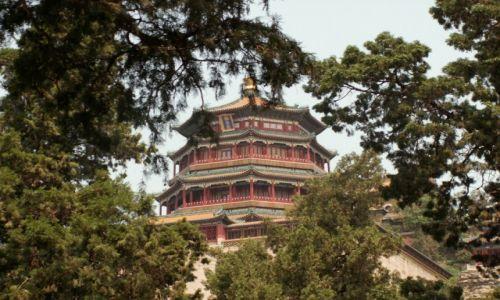 Zdjecie CHINY / Pekin / Letni Pałac Cesarski / Jeden z pawilonów w  Letnim Pałacu Cesarskim