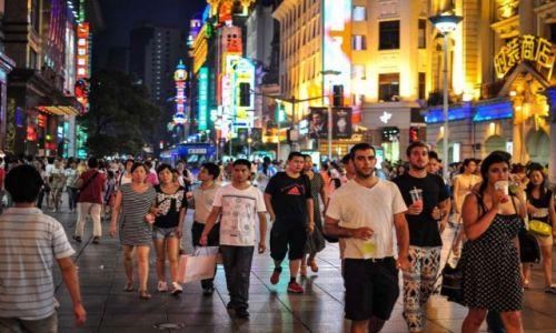 CHINY / Szanghaj / Szanghaj / Nanjing Road- największe 'zakupowo' Chin.