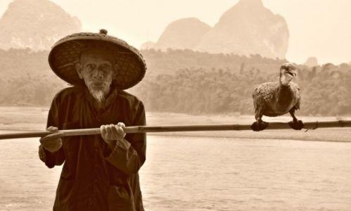 Zdjecie CHINY / Guangxi / Guilin / Niezwykła więź