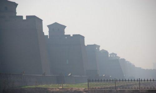CHINY / Shanxi / Pingyao / Mury obronne otaczające starą część Pingyao