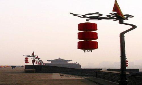 Zdjęcie CHINY / Xian / Na murach obronnych miasta / Poranny spokój