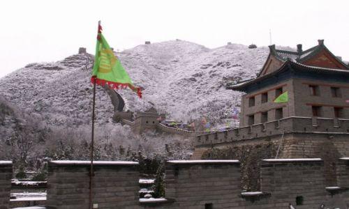Zdjecie CHINY / brak / okolice Pekinu / Wielki Mur Chiński - zimą
