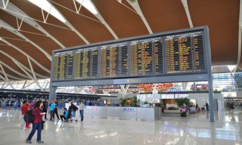 CHINY / Szanghaj / Lotnisko krajowe / Lotnisko w Szanghaju
