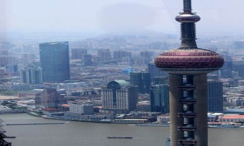 Zdjęcie CHINY / Shanghai / Pudong / Oriental Pearl Tower