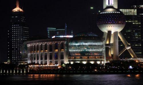 Zdjęcie CHINY / Shanghai / Pudong / Pudong nocą