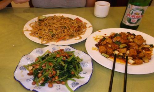 CHINY / Pekin / Pekin / Kolacja ze szpinakiem