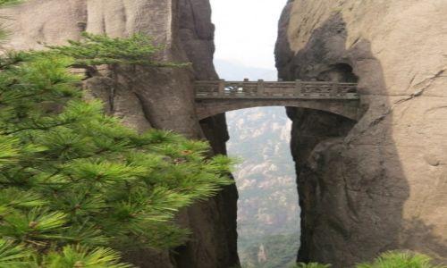 Zdjecie CHINY / Anhui / Huangshan / Most w górach Huangshan