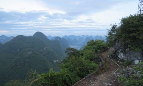CHINY / Guilin / Yangshuo / Yangshuo o wschodzie słońca