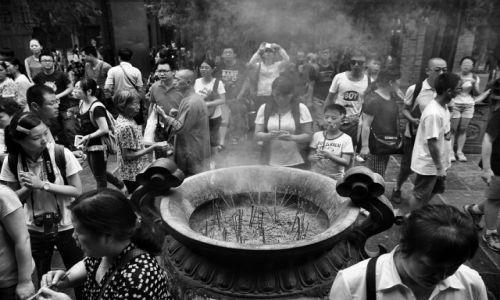 Zdjęcie CHINY / Shaolin / w klasztorze Shaolin / przy świątyni