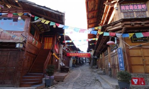 CHINY / Yunnan / Shangri-La (Zhongdian) / Shangri La przed pożarem (5)