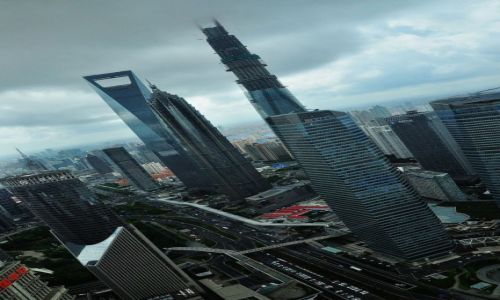 CHINY / Miasto wydzielone / Szanghai / Niech się mury pną do góry...