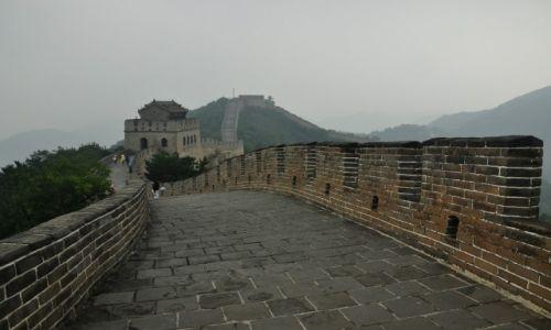 CHINY / Pekin / wzgórza Badaling / Mur