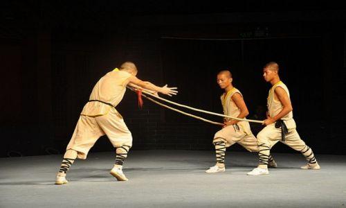 Zdjęcie CHINY / Klasztor Shaolin / Klasztor Shaolin / Jestem King Bruce Lee karate mistrz