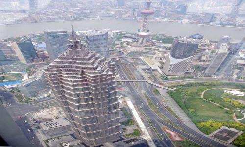 Zdjęcie CHINY / Szanghaj / Pudong / Pół kilometra nad ziemią