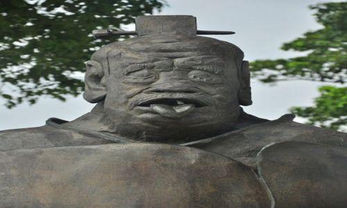 Zdjecie CHINY / Suzhou Industrial Park / Jezioro Złotego Koguta / Duży jęzor