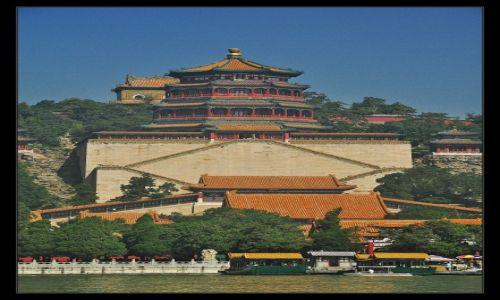 Zdjecie CHINY / Pekin / Jezioro Kuming / Mgła....