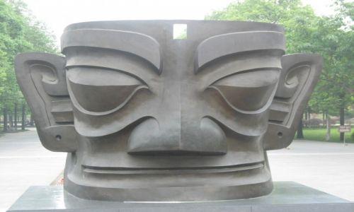 Zdjecie CHINY / Sichuan / Sanxingdui / Kopia maski