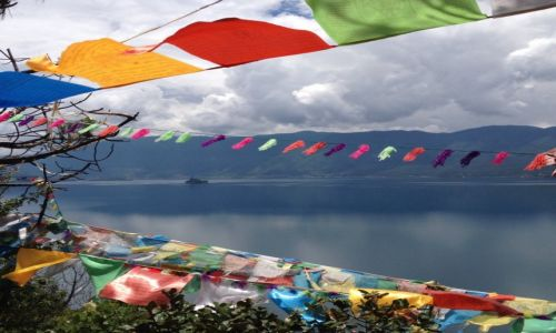 Zdjecie CHINY / Yunnan / Lugu Hu / Nad Lugu Hu