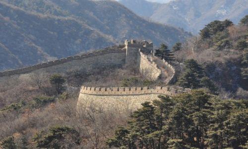 CHINY / Huairou County 70 km northeast of central Beijing / Great Wall in Mutiany / Wielki Mur Chi�ski Mutianyu