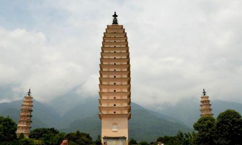 CHINY / Yunnan / Dali / Trzy Pagody na początku świątyni