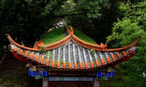 CHINY / Yunnan / Kunming / Na terenie Świątyni Bambusowej