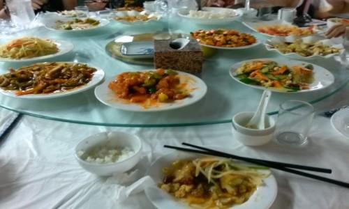Zdjęcie CHINY / - / Mutianyu / Obiad na wycieczce